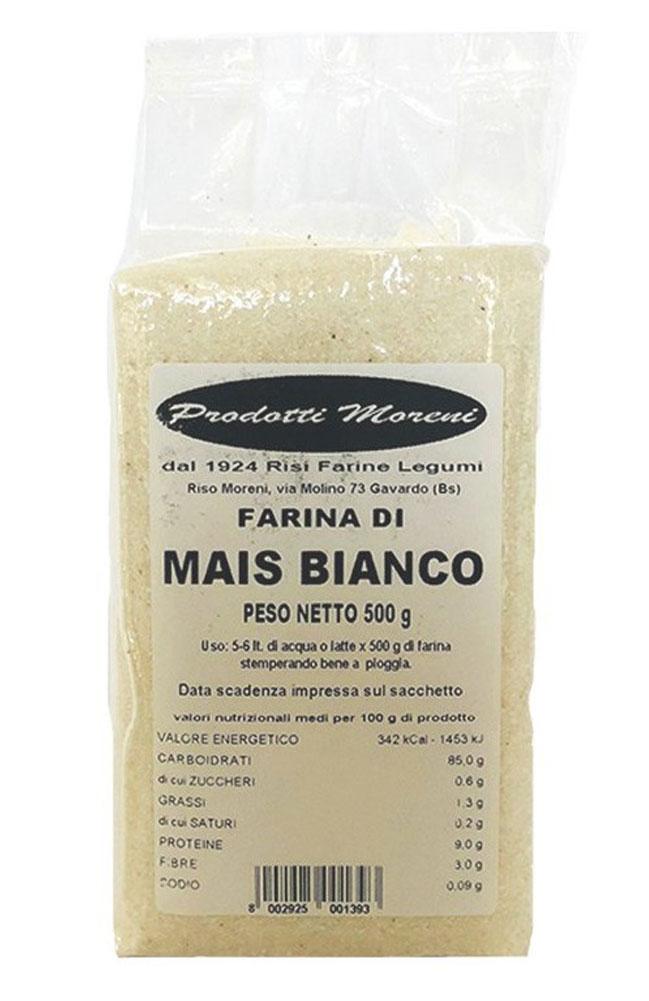 Riso Moreni - Farina di mais bianco