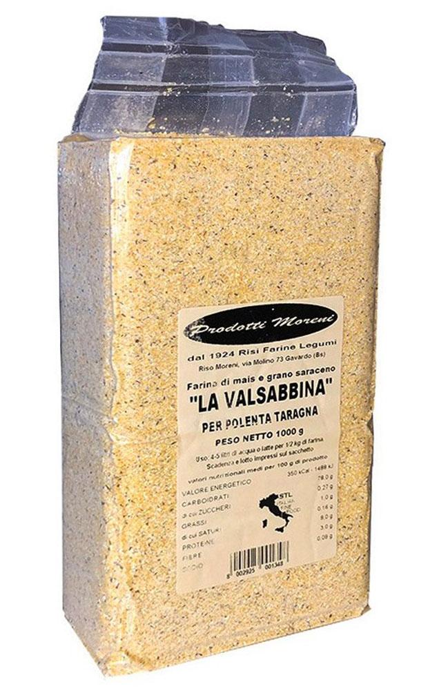 """Riso Moreni - Farina """"La Valsabbina"""" di mais e grano saraceno per polenta taragna."""