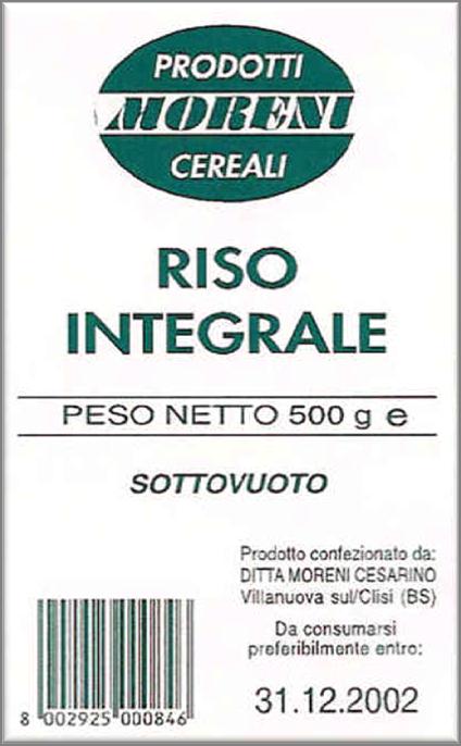 Riso Moreni - Riso Integrale